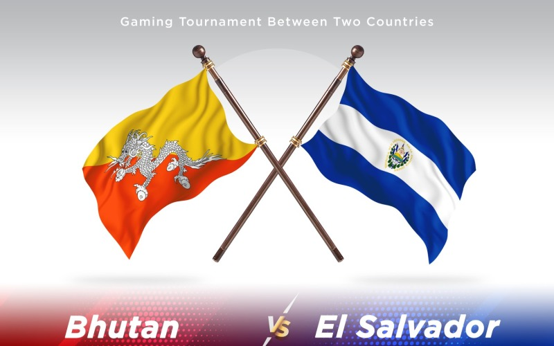 Бутан против Сальвадора Два флага