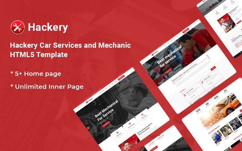 Hackery - шаблон сайта автосервисов и отзывчивого сайта для механиков