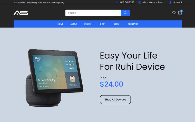 Ruhi - Modèle HTML5 de commerce électronique pour magasin d'électronique