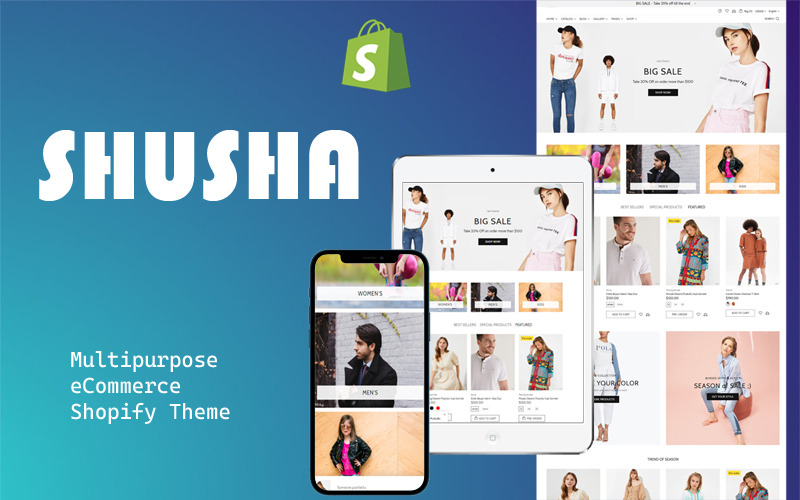 Shusha - Mehrzweck-Shopify-Theme