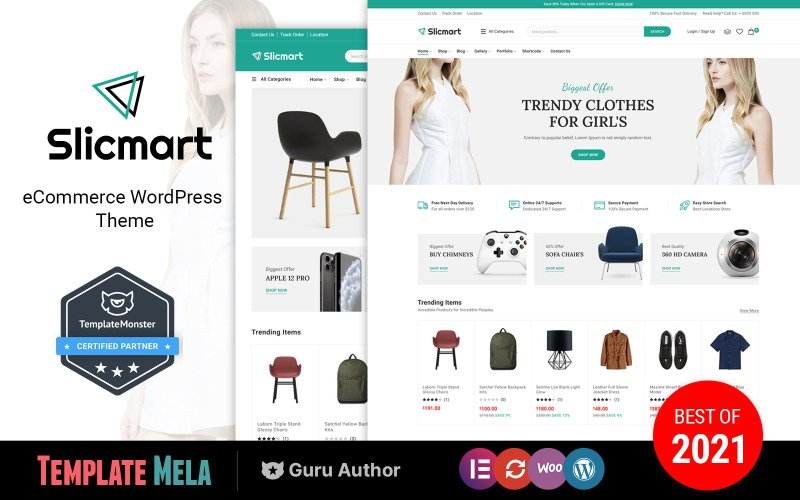 Slicmart - Elementor Multipurpose WooCommerce Theme