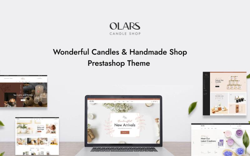 TM Olars - Bougies Et Boutique Fait Main Thème Prestashop