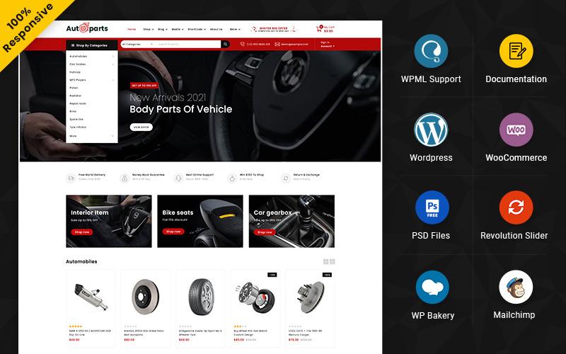 Autoparts - Mega Shop 多用途响应式 WooCommerce 商店