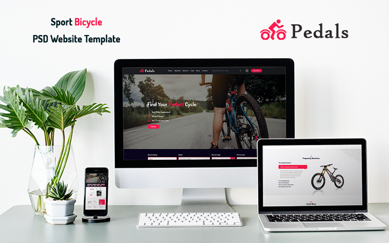 Pedals - Sport Bicycle PSD Website Template