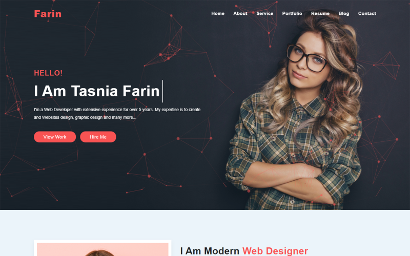 Portfolio Home Page Design Speciality Page Template