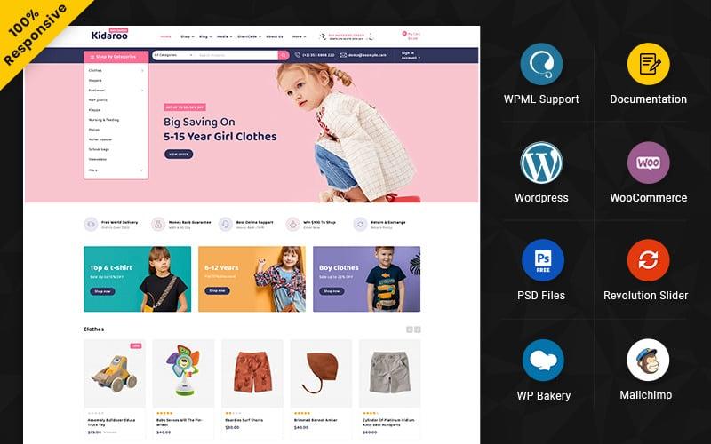 Kidaroo – Kids and toy Multipurpose Responsive WooCommerce Store