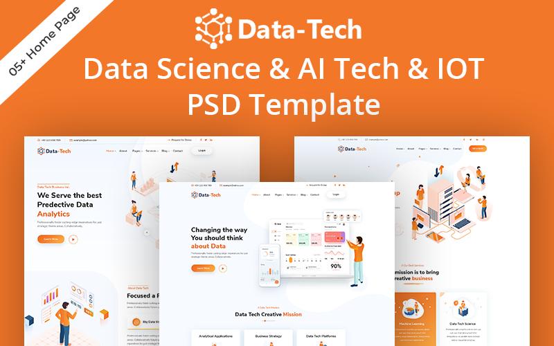 Datatech - Data Science & Ai Tech PSD Template