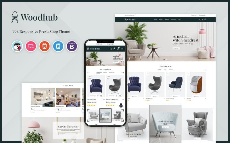 Woodhub - Furniture PrestaShop Template