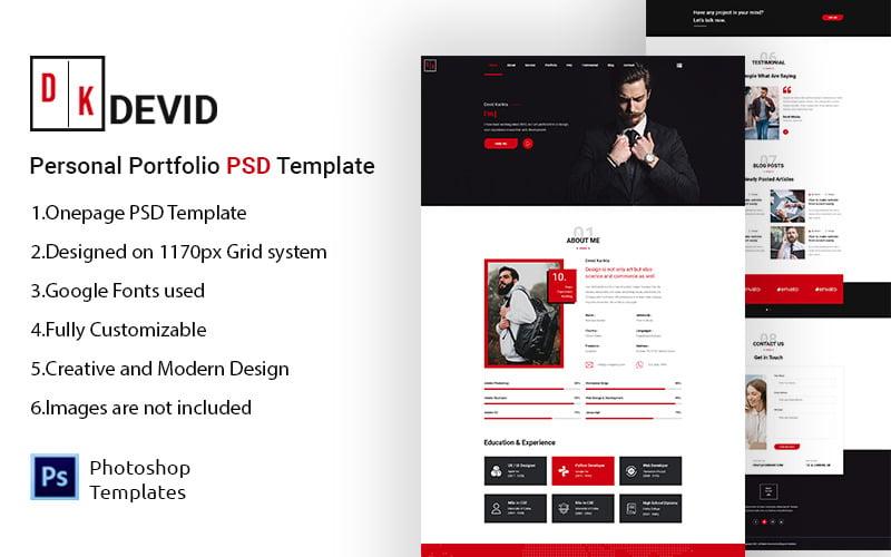 Devid – Personal Portfolio PSD Template