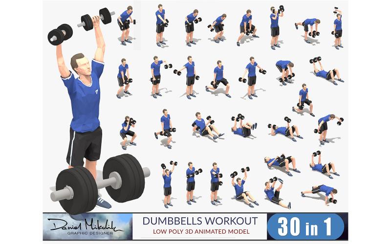 Dumbbells Worksout Animation Bundle