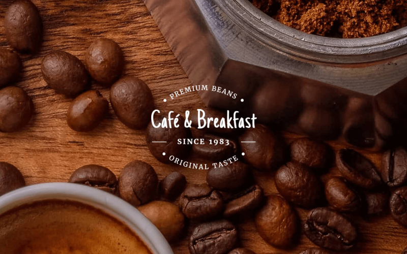 Café et petit-déjeuner - Modèle Drupal réactif