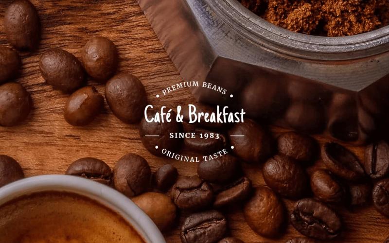 Café und Frühstück - Responsive Drupal-Vorlage