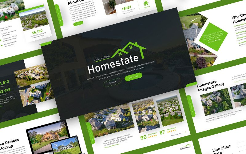 Homestate - Real Estate PowerPoint Template