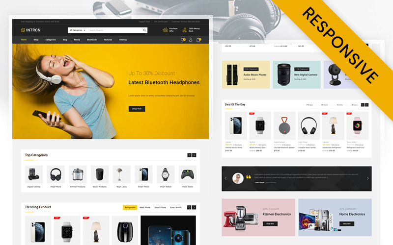 Тема WooCommerce для магазина Intron Mega Electronics Store
