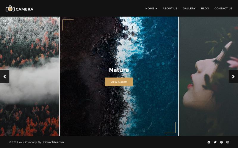 相机 - 摄影和作品集 Joomla 模板