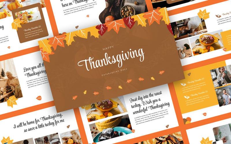 Thanksgiving Celebration Google Slides Template