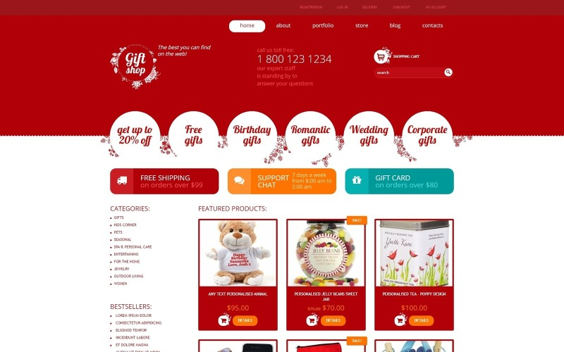 Free Gifts Store Responsive WooCommerce Theme