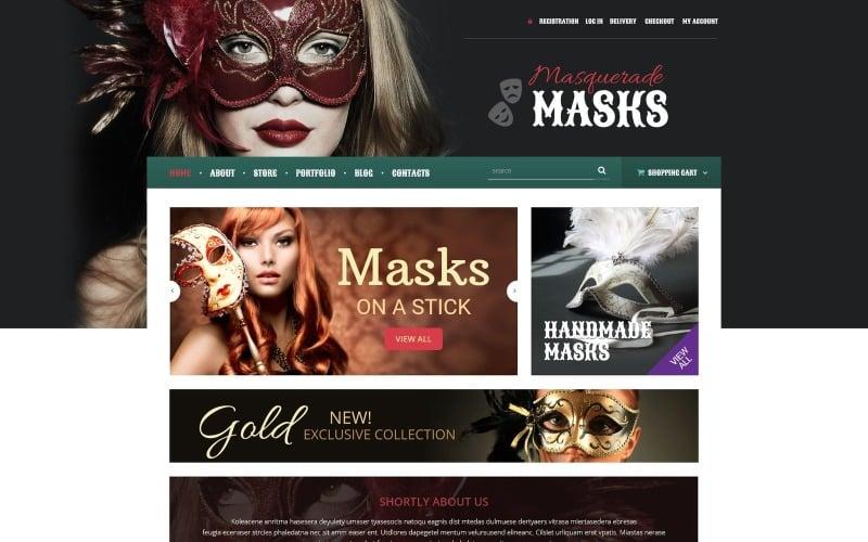 Free Masquerade Mask WooCommerce Theme