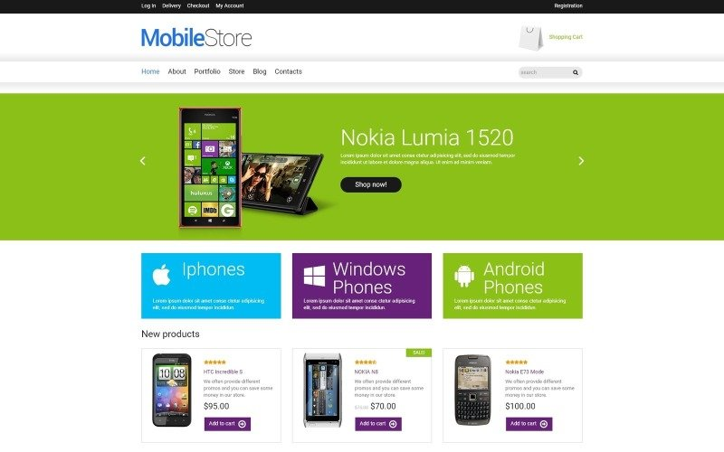 Free Mobile Store Responsive WooCommerce Theme