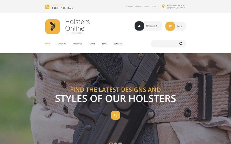 Free Holsters Online Store WooCommerce Theme