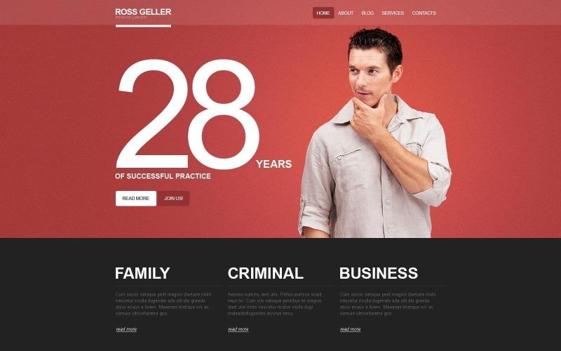 Zdarma téma právník a advokát pro WordPress