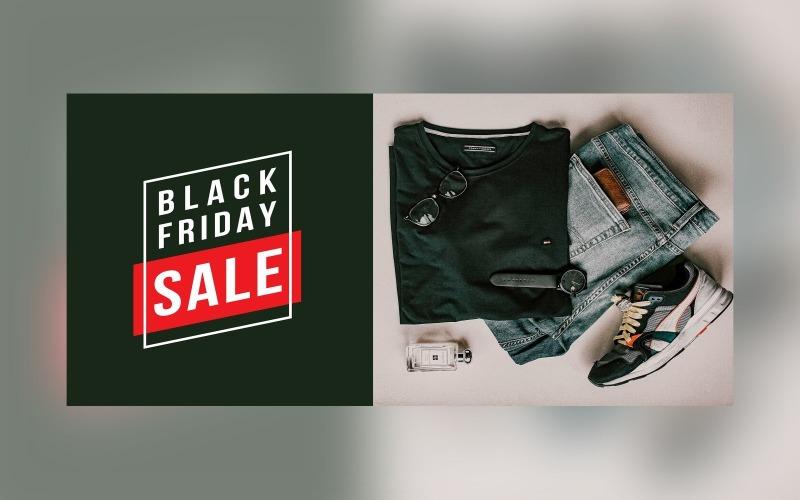 Black Friday Sale Banner On Whit And Black Color Background Design