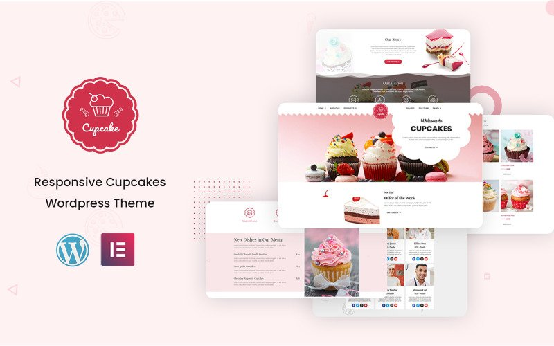 Cup Cake Bakery - Ready to Use Elementor Kit