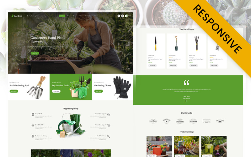 Gardcro - Magasin d'équipement de jardin WooCommerce Responsive Theme