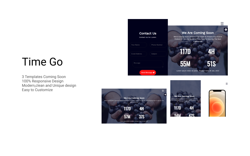 Time Go - Coming Soon HTML5 Template