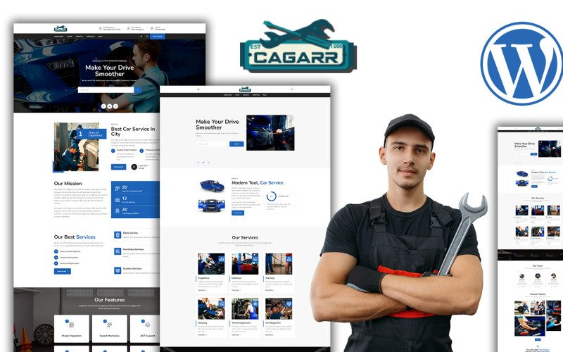 Cagaar Mechanics Car Repair WordPress Theme