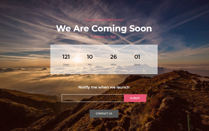 Fate - Coming Soon Landing Page Template