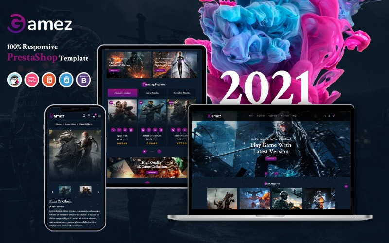 Gamez - Responsive PrestaShop Template
