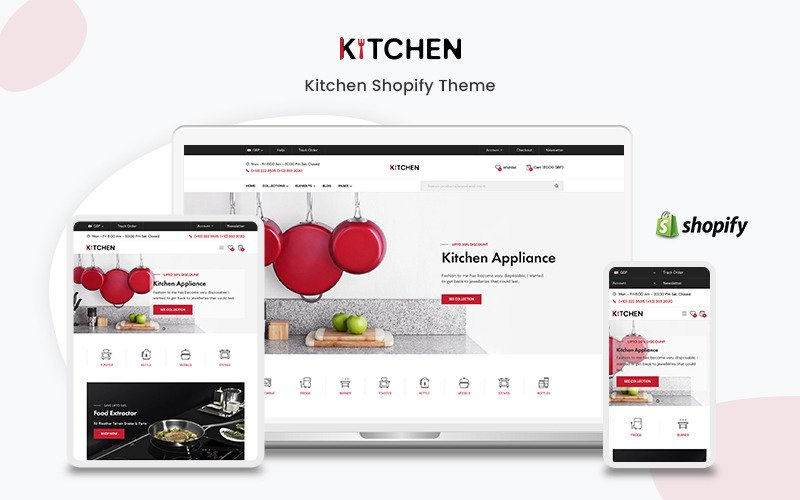 Kitchen- The Kitchen Appliance Premium Shopify Theme