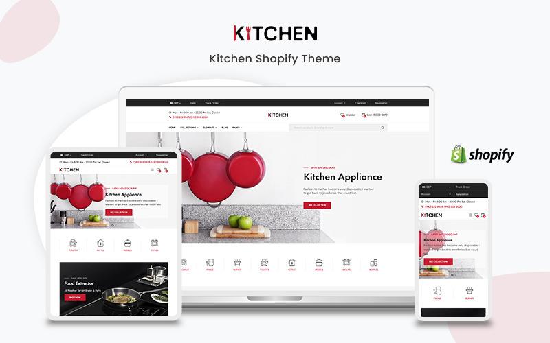 Кухня - Тема Shopify Премиум для кухонной техники