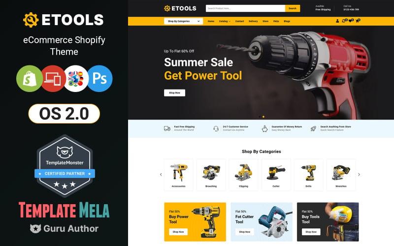 Etools - Thème Shopify pour outils électriques et manuels