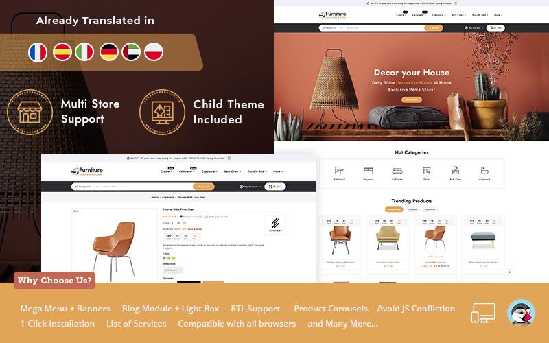 Furniture Interior art & Crafts PrestaShop Theme