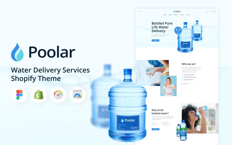 Poolar - Тема услуг по доставке воды Shopify