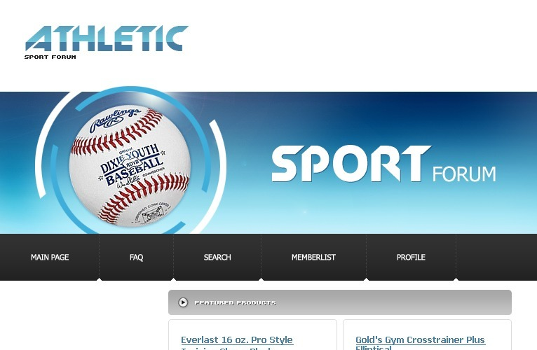 Sport PhpBB Template