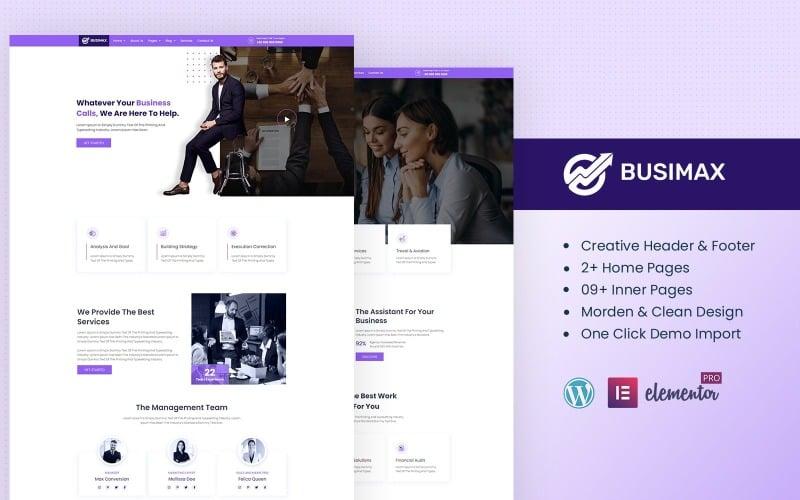 Busimax - Geschäfts- und Beratungsservices einsatzbereites Elementor-Kit