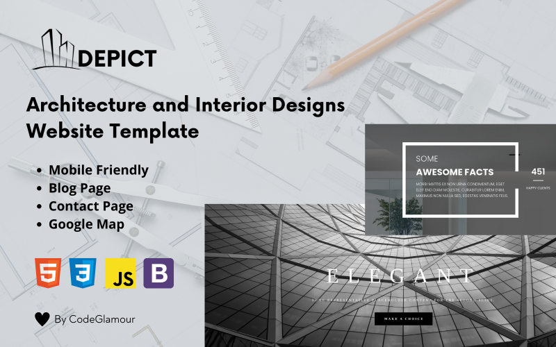 Depict - An Architecture and Interrior Responsive HTML5 Landing Page Template