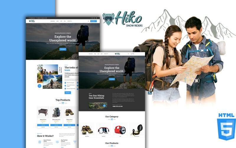 Hiko Trekking und Wandern HTML5 Website-Vorlage