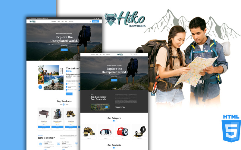 Modèle de site Web Hiko Trekking et randonnée pédestre HTML5
