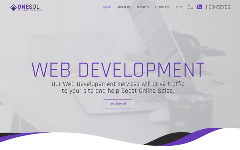 OneSol - Webdesign & Entwicklung Mehrzweck-Landingpage-Vorlage