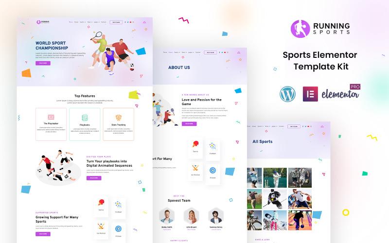 Running Sports - Kit Elementor prêt à l'emploi pour le sport