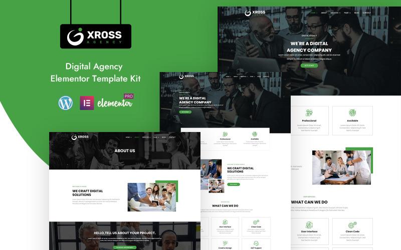 Xross Agency - Готовый к использованию комплект Elementor для бизнеса