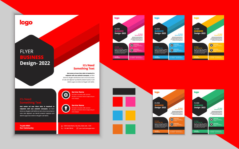 Creative Business Flyer Design Template. Business Vector Design