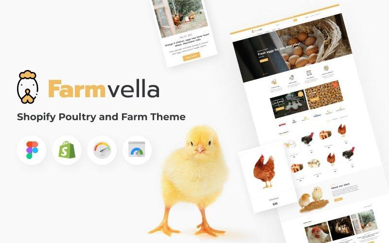 FarmVella - Shopify Тема птицеводства и фермы с органическими продуктами