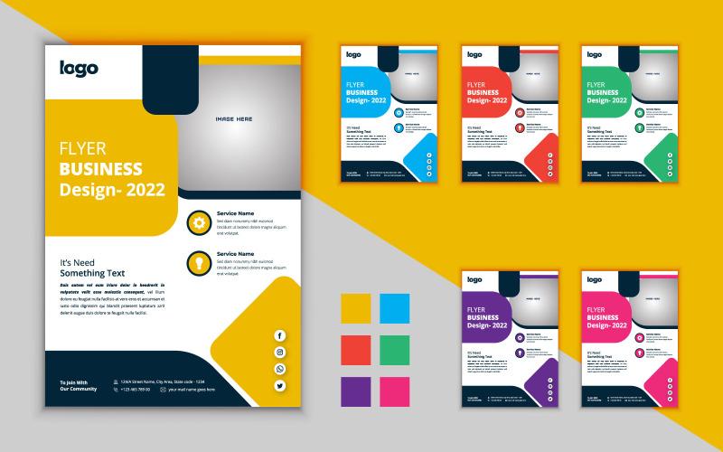 Креативный дизайн бизнес-флаера. Флаер вектор шаблон. Современный дизайн флаера.