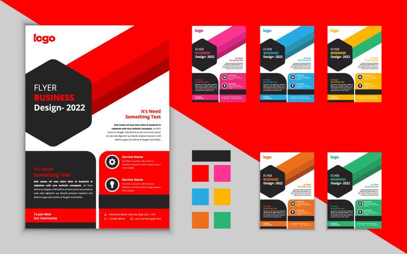 Modèle de conception de flyer d'entreprise créative. Conception de vecteur d'affaires