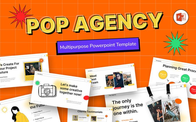 Modèle PowerPoint de création d'entreprise de l'agence pop